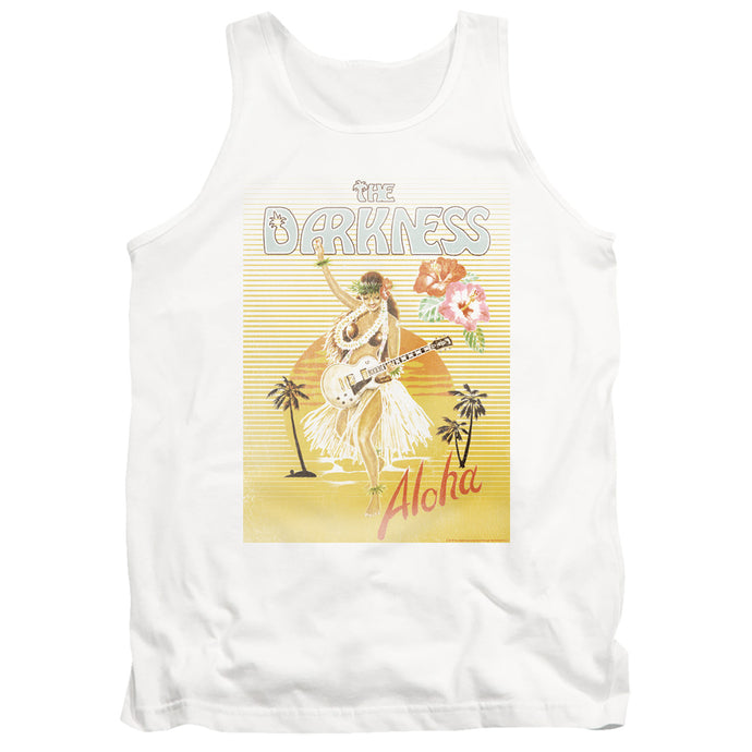 The Darkness Aloha Mens Tank Top Shirt White