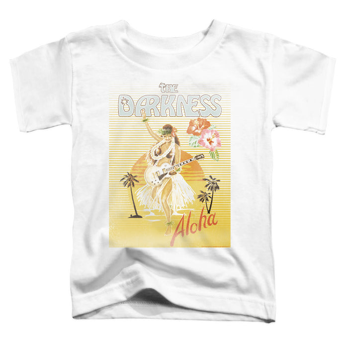 The Darkness Aloha Toddler Kids Youth T Shirt White