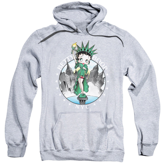 Betty Boop Nyc Mens Hoodie Athletic Heather