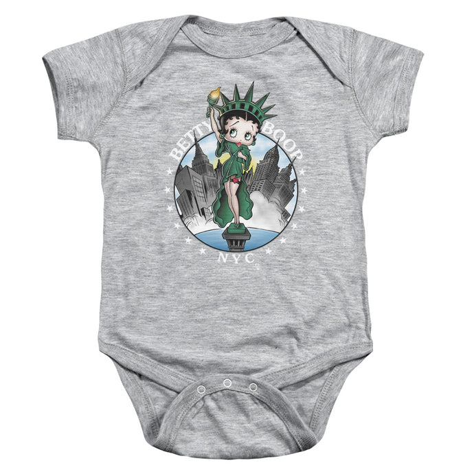 Betty Boop Nyc Infant Baby Snapsuit Athletic Heather