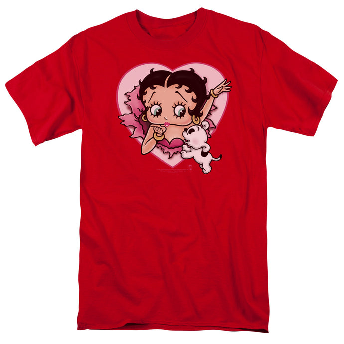 Betty Boop I Love Betty Mens T Shirt Red