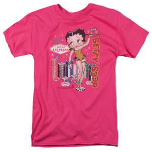 Betty Boop Wet Your Whistle Mens T Shirt Hot Pink