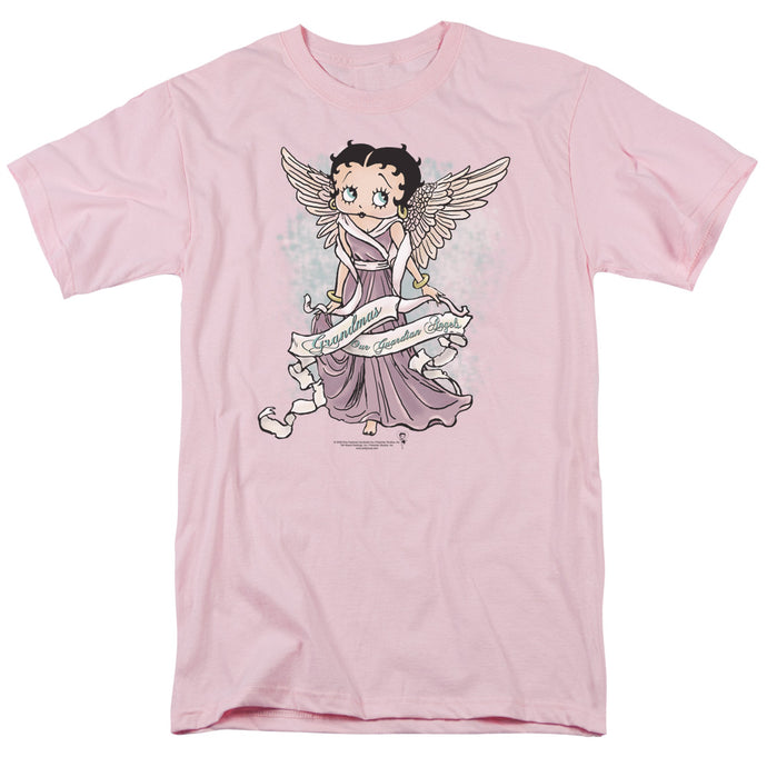Betty Boop Grandma Guardian Angel Mens T Shirt Pink