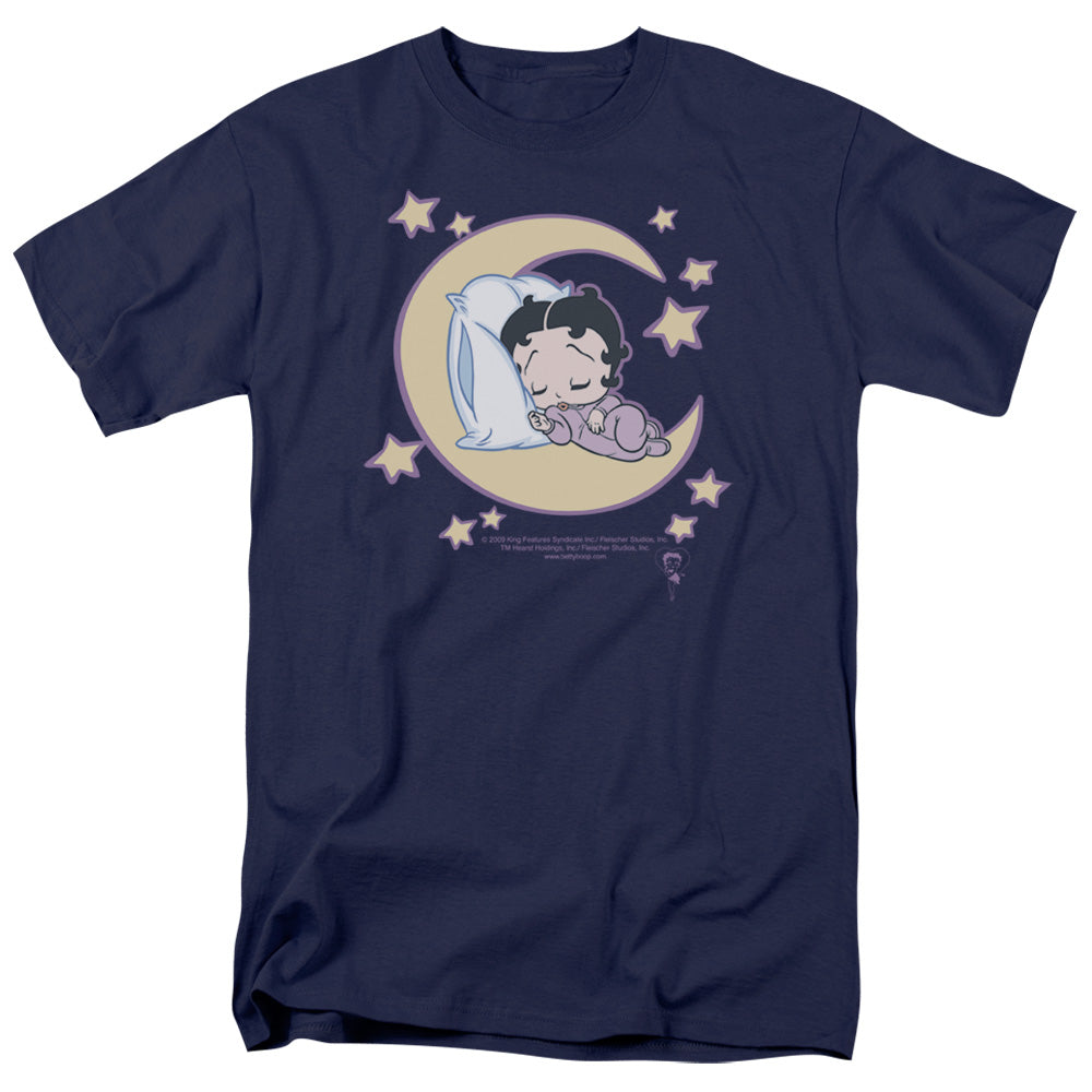 Betty Boop Sleepy Time Mens T Shirt Navy Blue