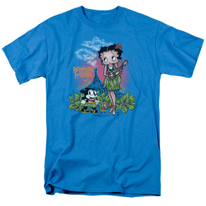Betty Boop Polynesian Princess Mens T Shirt Turquoise