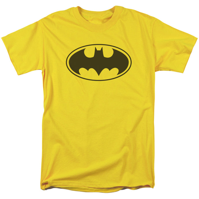 Batman Black Bat Mens T Shirt Yellow