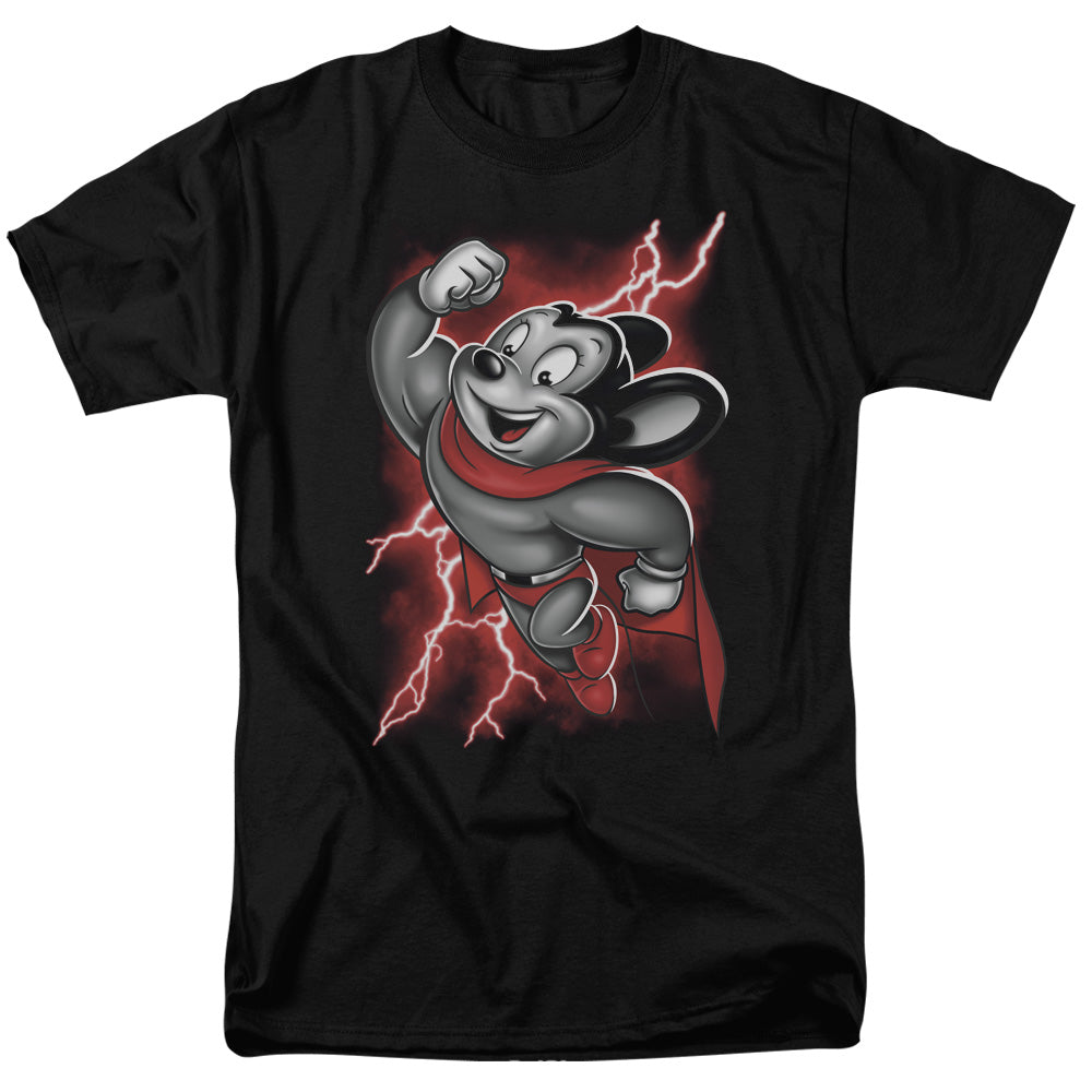 Mighty Mouse Mighty Storm Mens T Shirt Black