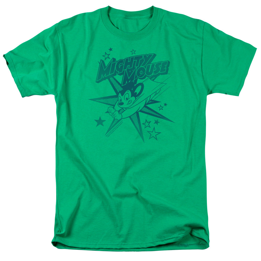 Mighty Mouse Mighty Mouse Mens T Shirt Kelly Green