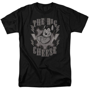 Mighty Mouse the Big Cheese Mens T Shirt Black