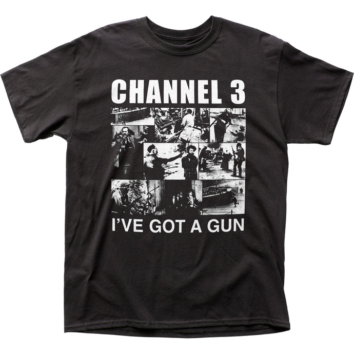 Channel 3 I've Got A Gun Mens T Shirt Black
