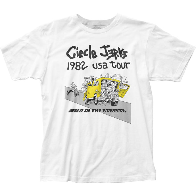 Circle Jerks 1982 Tour Mens T Shirt White