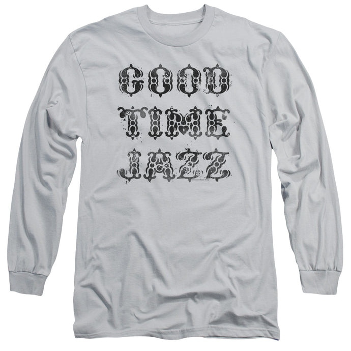 Good Time Jazz GTJ Vintage Mens Long Sleeve Shirt Silver