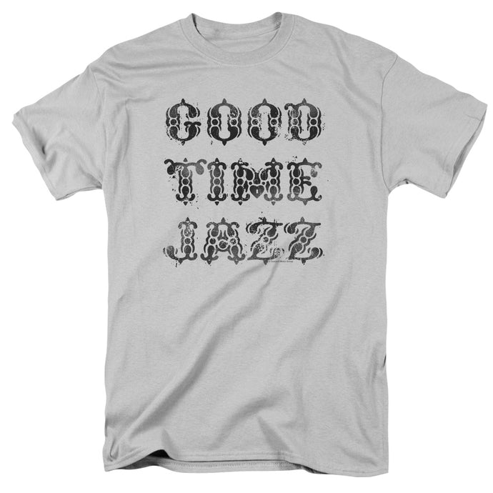 Good Time Jazz GTJ Vintage Mens T Shirt Silver