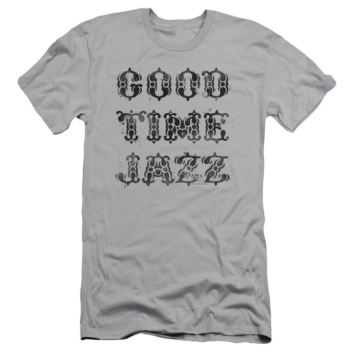 Good Time Jazz GTJ Vintage Slim Fit Mens T Shirt Silver