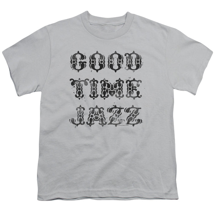 Good Time Jazz GTJ Vintage Kids Youth T Shirt Silver