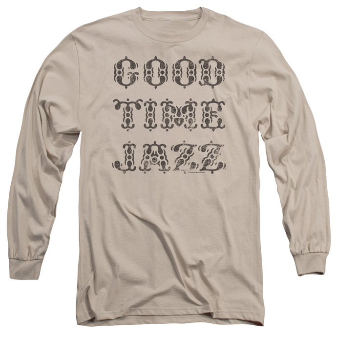 Good Time Jazz Retro Good Times Mens Long Sleeve Shirt Sand