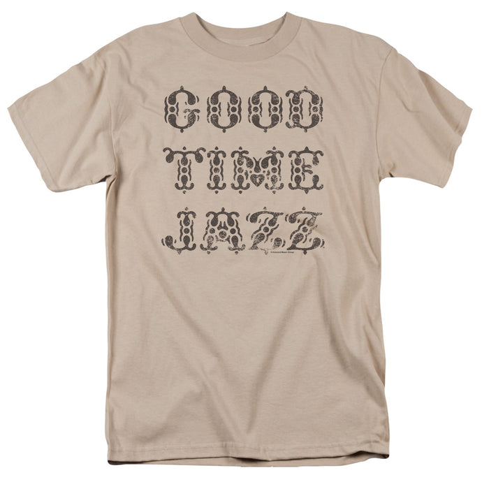 Good Time Jazz Retro Good Times Mens T Shirt Sand