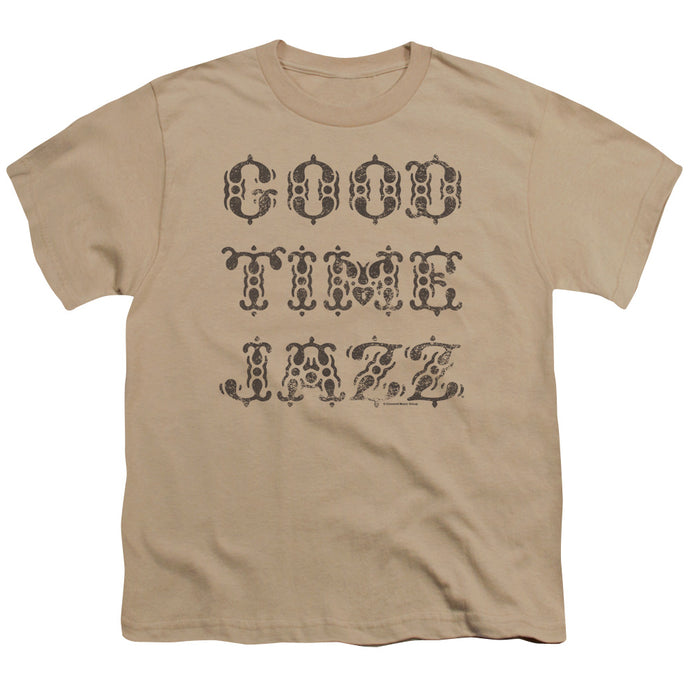 Good Time Jazz Retro Good Times Kids Youth T Shirt Sand