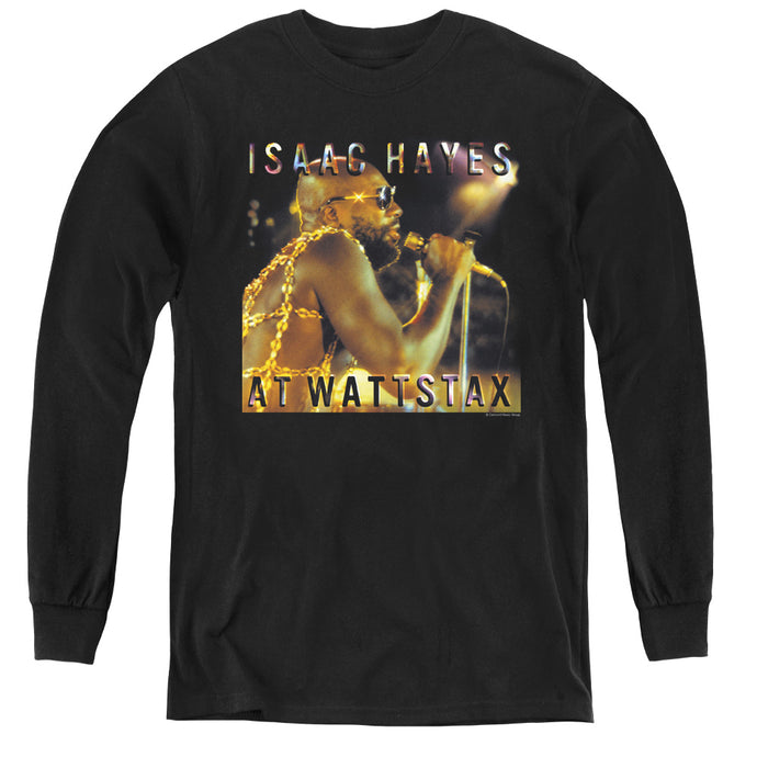 Isaac Hayes At Wattstax Long Sleeve Kids Youth T Shirt Black
