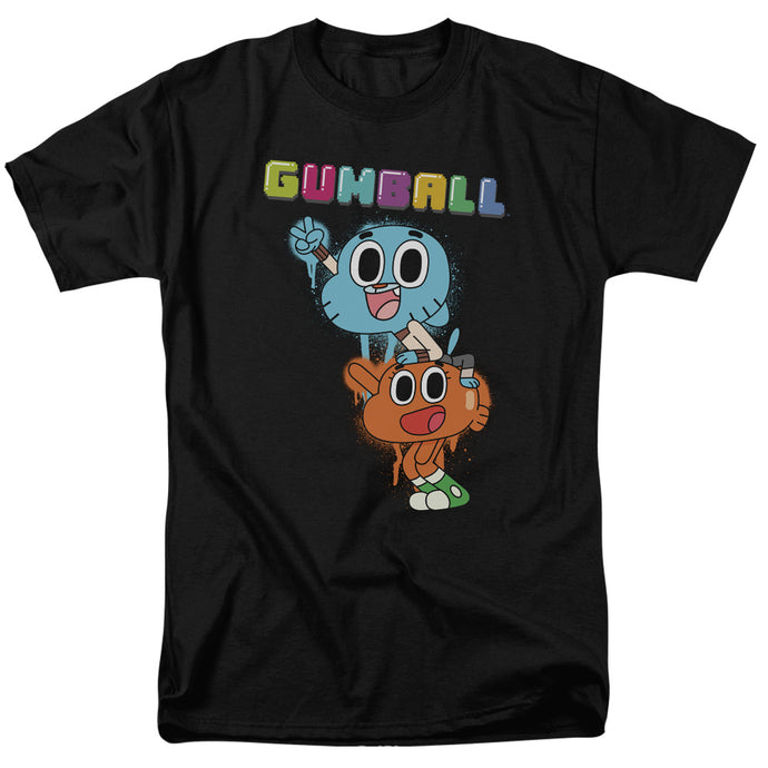 Amazing World of Gumball Gumball Spray Mens T Shirt Black