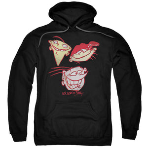 Ed Edd N Eddy Three Heads Mens Hoodie Black