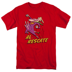 Cow and Chicken Al Rescate Mens T Shirt Red