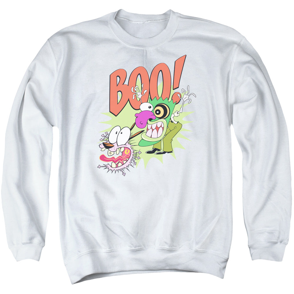 Courage the Cowardly Dog Stupid Dog Mens Crewneck Sweatshirt White