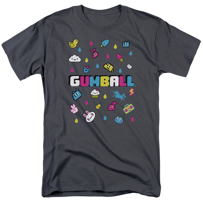 Amazing World of Gumball Fun Drops Mens T Shirt Charcoal