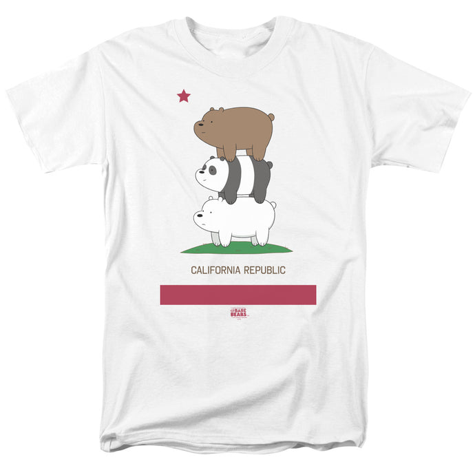 We Bare Bears Cali Stack Mens T Shirt White