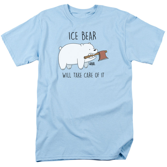 We Bare Bears Take Care of It Mens T Shirt Light Blue