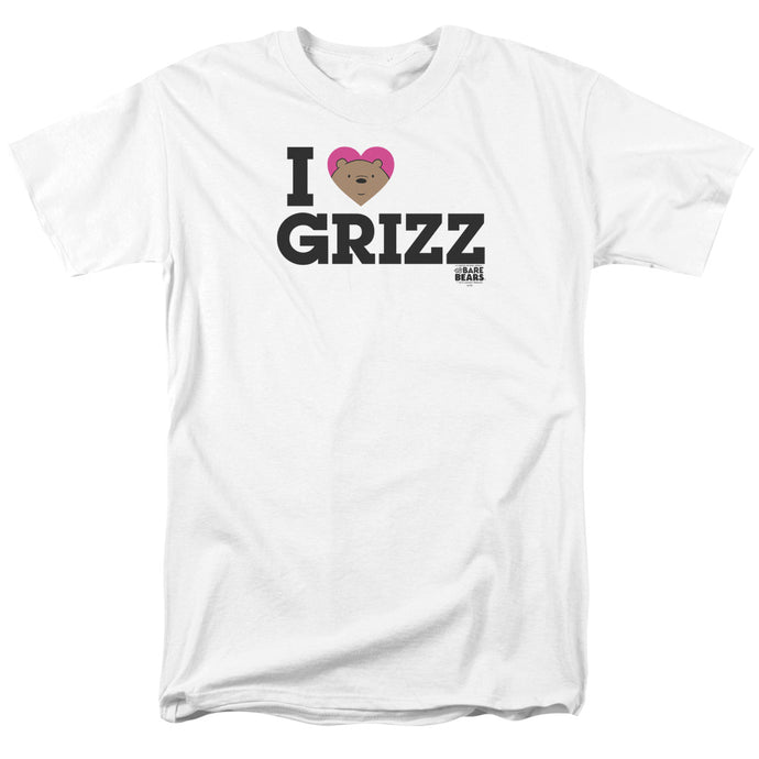 We Bare Bears Heart Grizz Mens T Shirt White