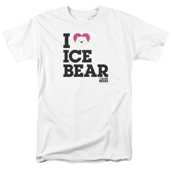We Bare Bears Heart Ice Bear Mens T Shirt White