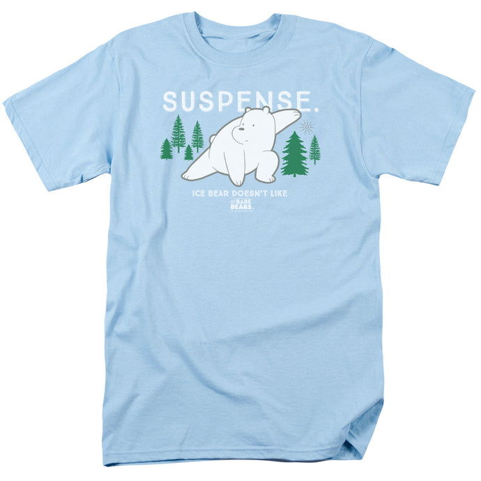 We Bare Bears Suspense Mens T Shirt Light Blue