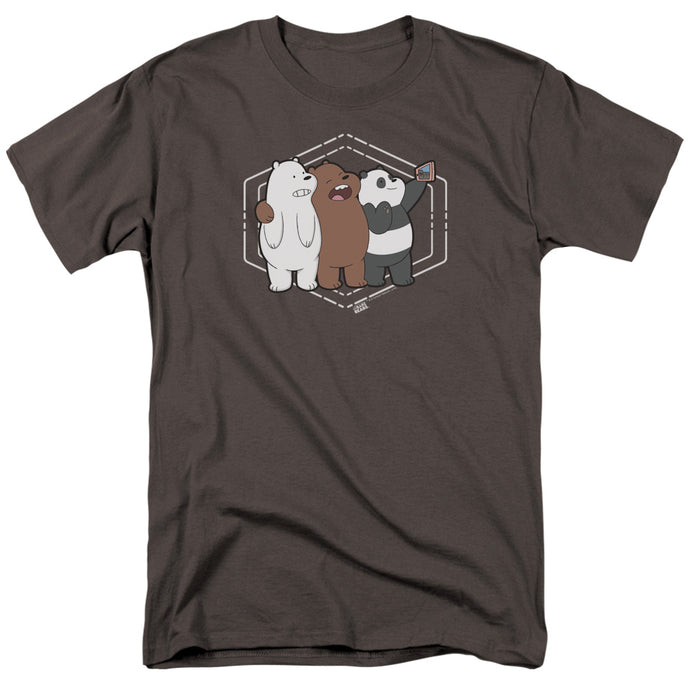 We Bare Bears Selfie Mens T Shirt Charcoal
