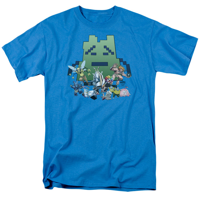 Aqua Teen Hunger Force Group Mens T Shirt Turquoise
