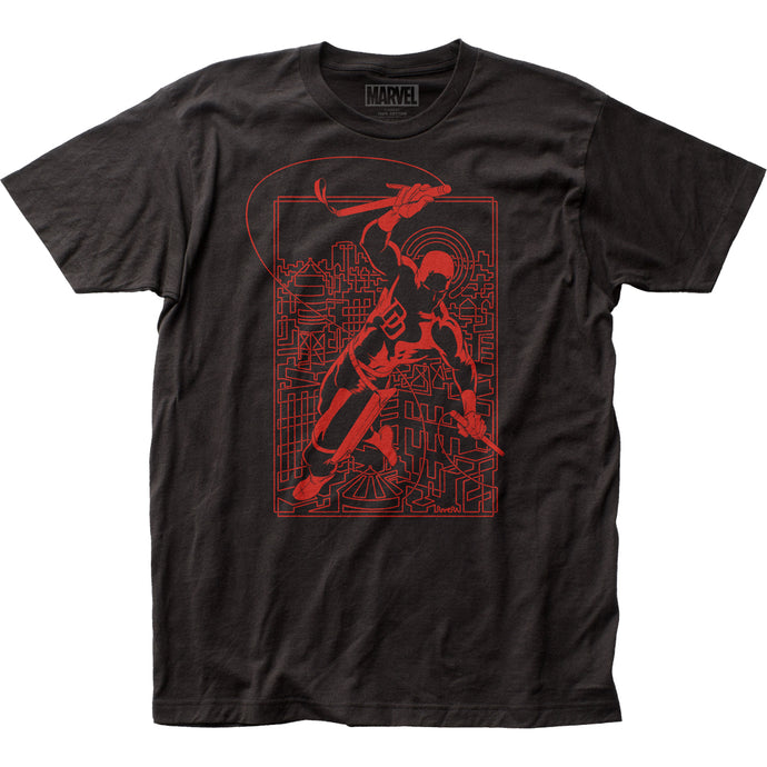Daredevil Line Art Mens T Shirt Black