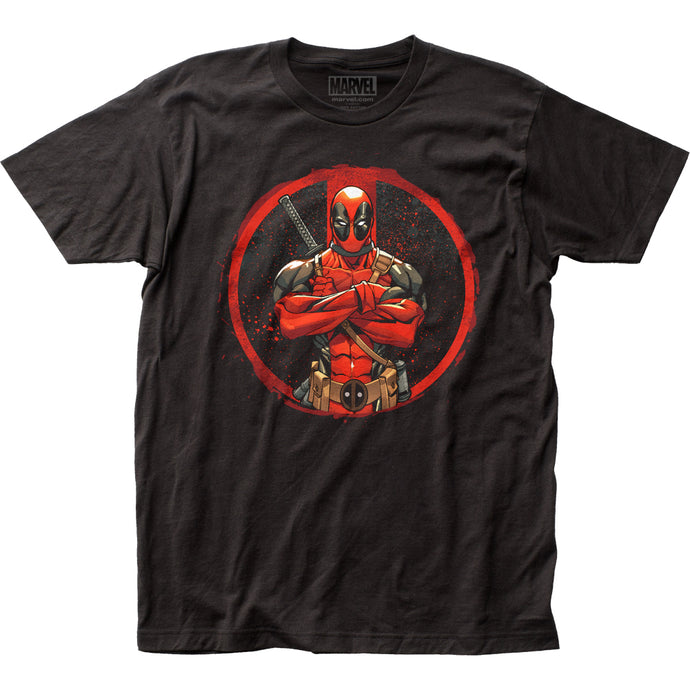 Deadpool Crossed Mens T Shirt Black