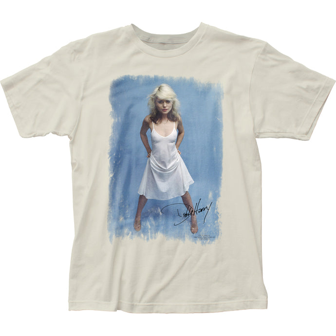 Blondie White Dress Mens T Shirt Vintage White