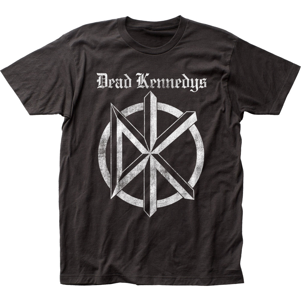 Dead Kennedys Distressed Old English Logo Mens T Shirt Black
