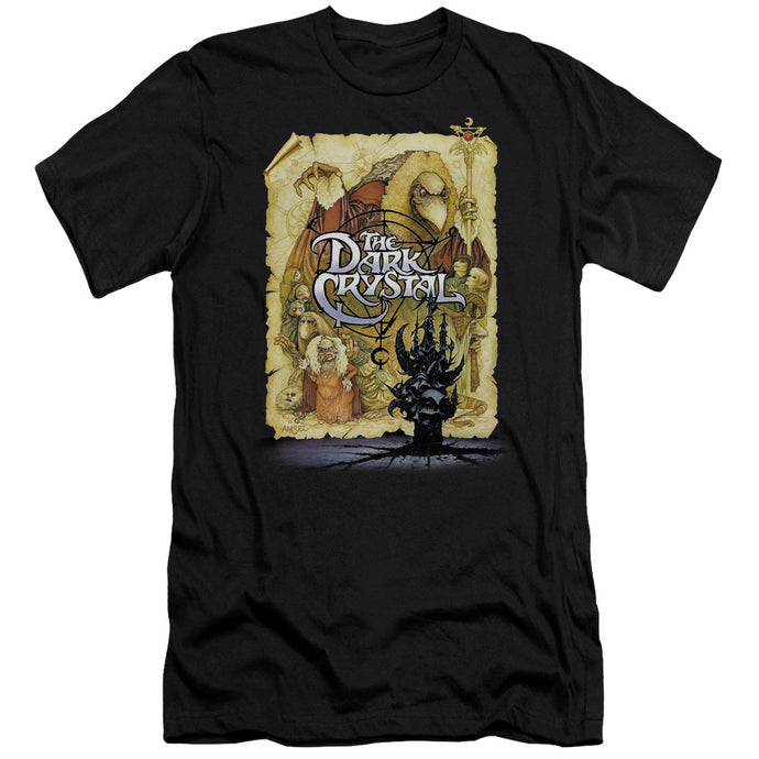 The Dark Crystal Poster Slim Fit Mens T Shirt Black