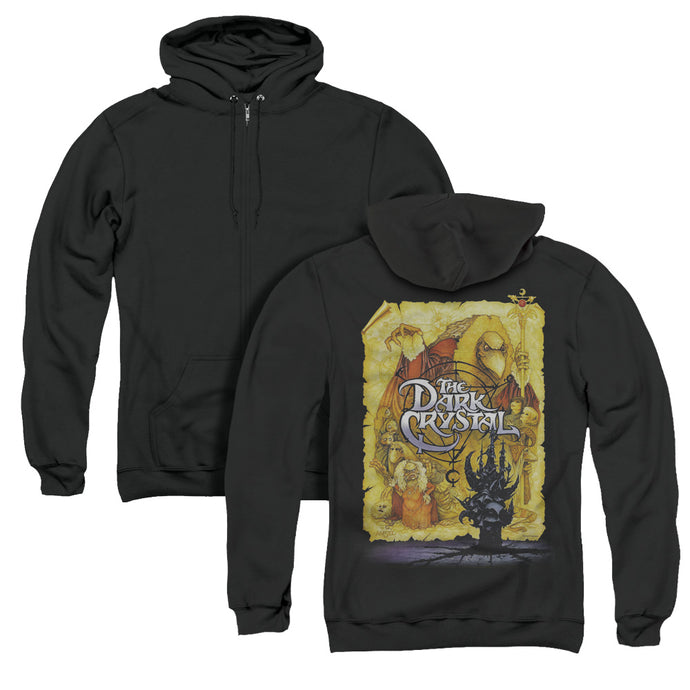 The Dark Crystal Poster Back Print Zipper Mens Hoodie Black