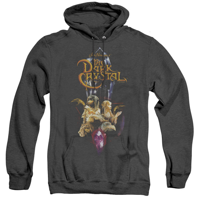 The Dark Crystal Crystal Quest Heather Mens Hoodie Black