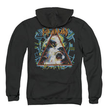 Load image into Gallery viewer, Def Leppard Hysteria Back Print Zipper Mens Hoodie Black