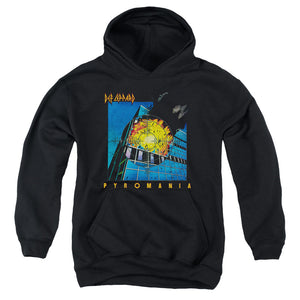 Def Leppard Pyromania Kids Youth Hoodie Black