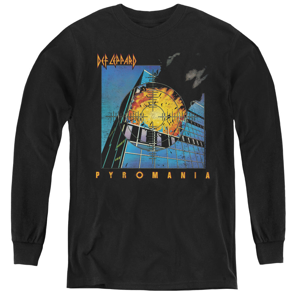 Def Leppard Pyromania Long Sleeve Kids Youth T Shirt Black