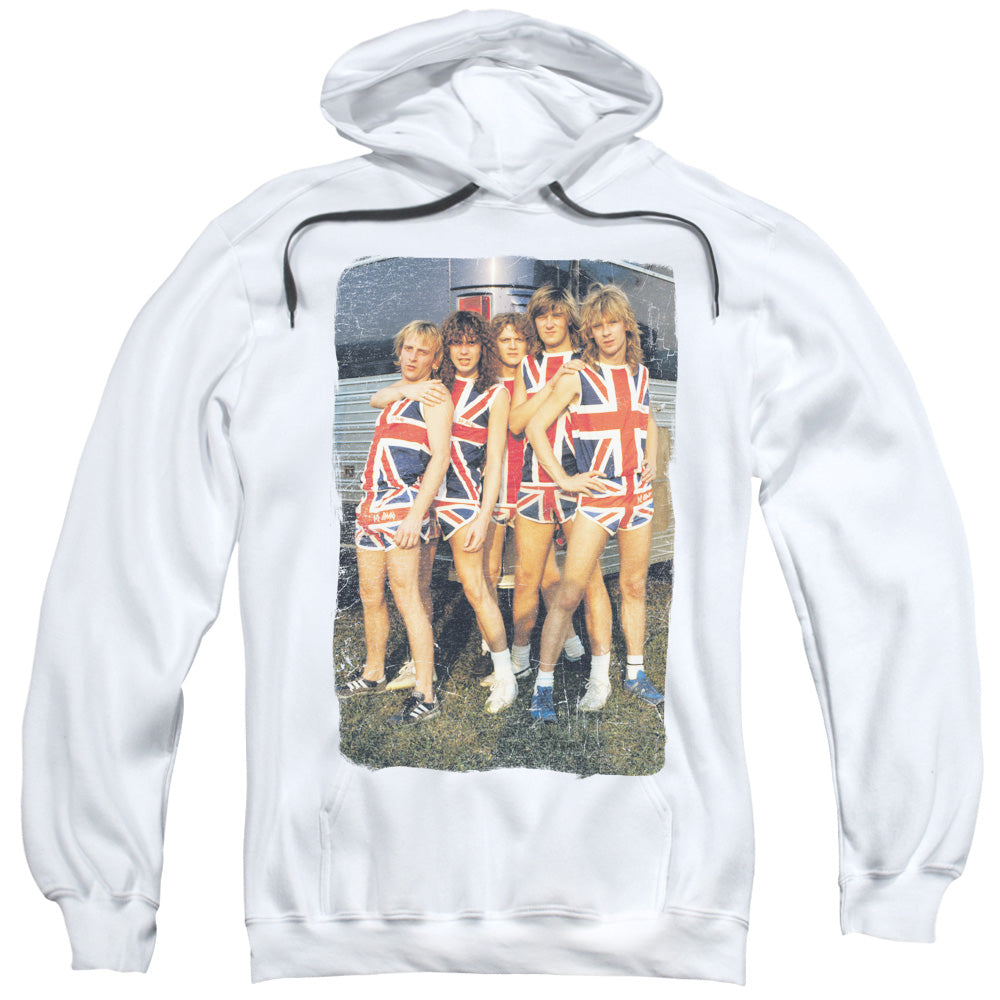 Def Leppard Flag Photo Mens Hoodie White