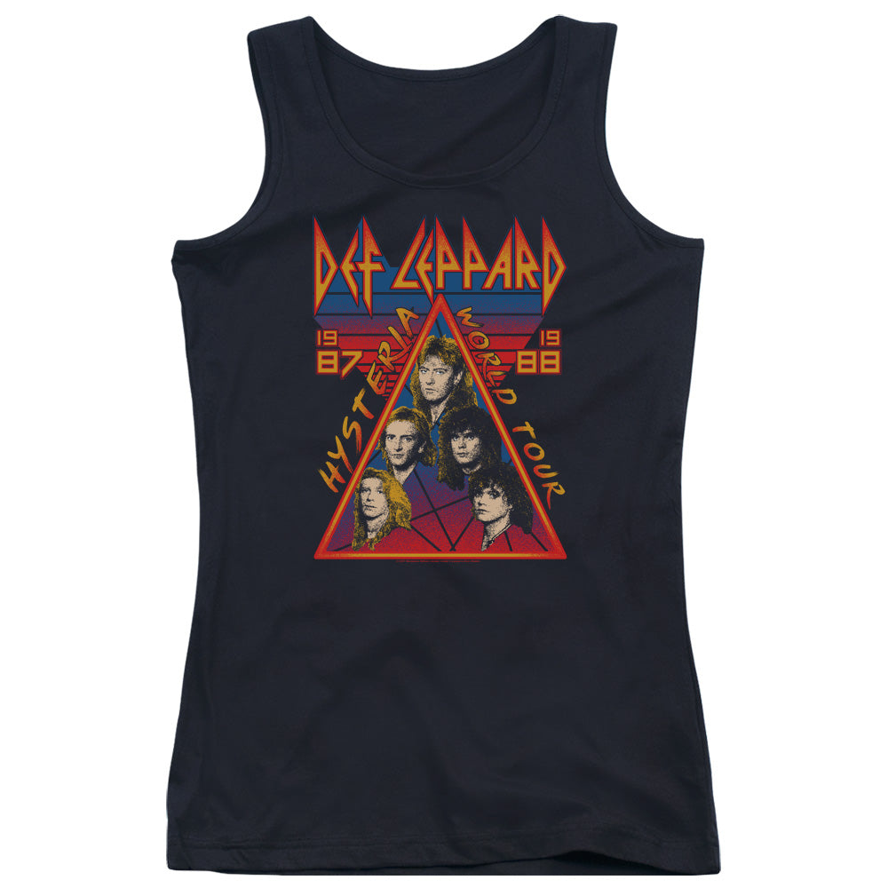 Def Leppard Hysteria Tour Womens Tank Top Shirt Black