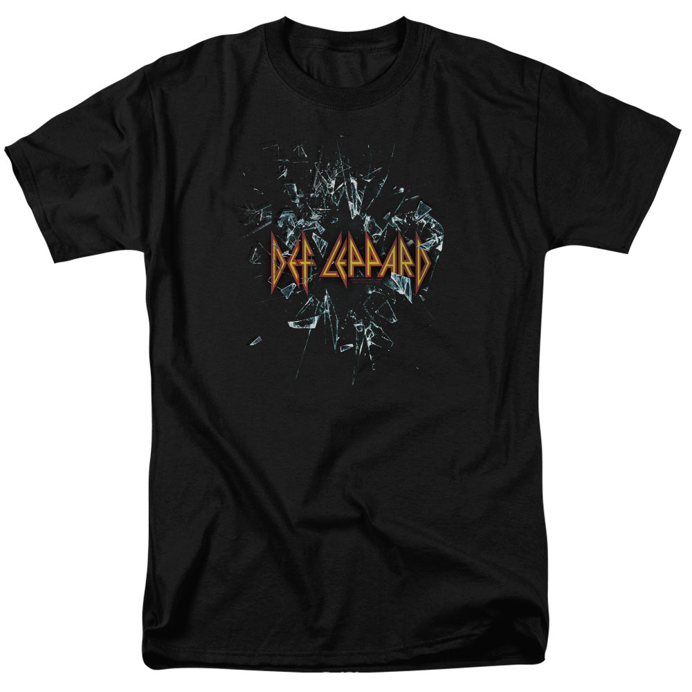 Def Leppard Broken Glass Mens T Shirt Black