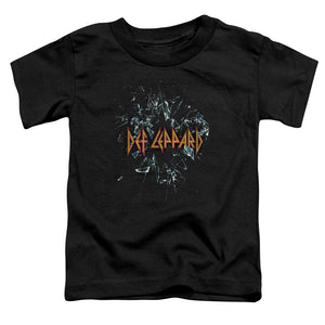 Def Leppard Broken Glass Toddler Kids Youth T Shirt Black