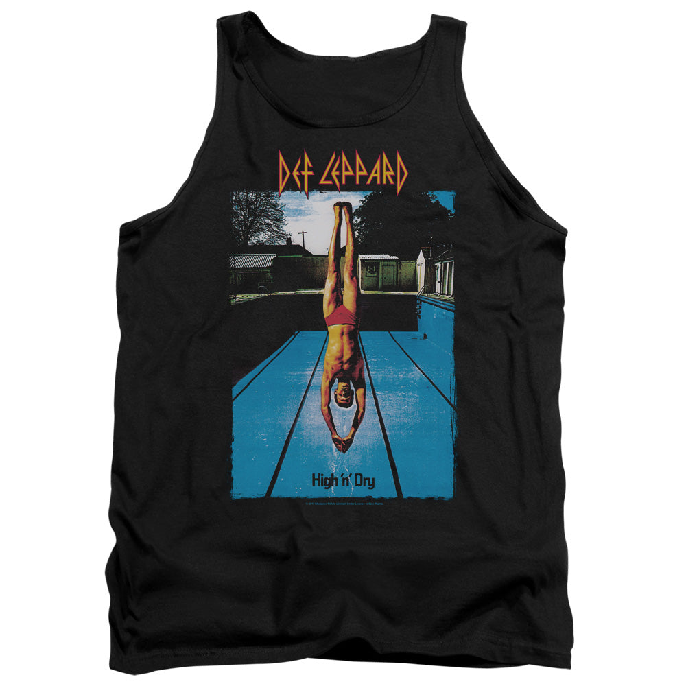 Def Leppard High N Dry Mens Tank Top Shirt Black